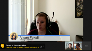 Webcast - Alison Foxall